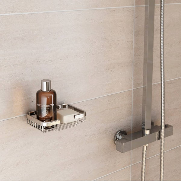 Options Brass Wall Mounted Square Basket
