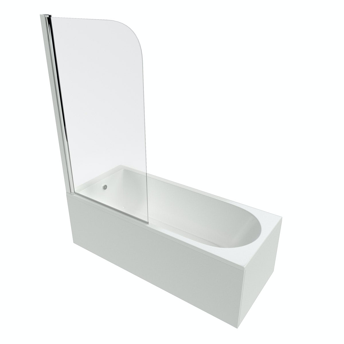 Ideal Standard Tesi single ended Idealform Plus+ straight bath and angle screen 1700 x 700