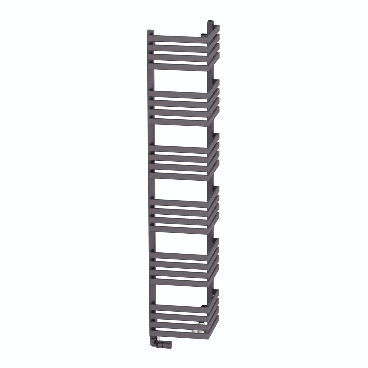 Terma Outcorner modern grey heated towel rail 1545 x 300