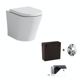 Arc Back To Wall Toilet Inc Seat and Concealed Cistern