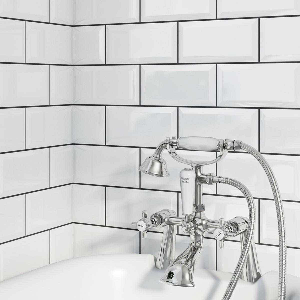 British ceramic tile metro bevel white gloss tile 100mm x 200mm british ceramic tile metro bevel white gloss tile 100mm x 200mm dailygadgetfo Images