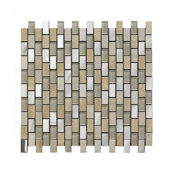 Mosaic biscuit beige gloss tile 300mm x 300mm - 1 sheet