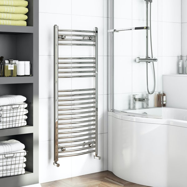 Curved Heated Towel Rail 1150 x 450