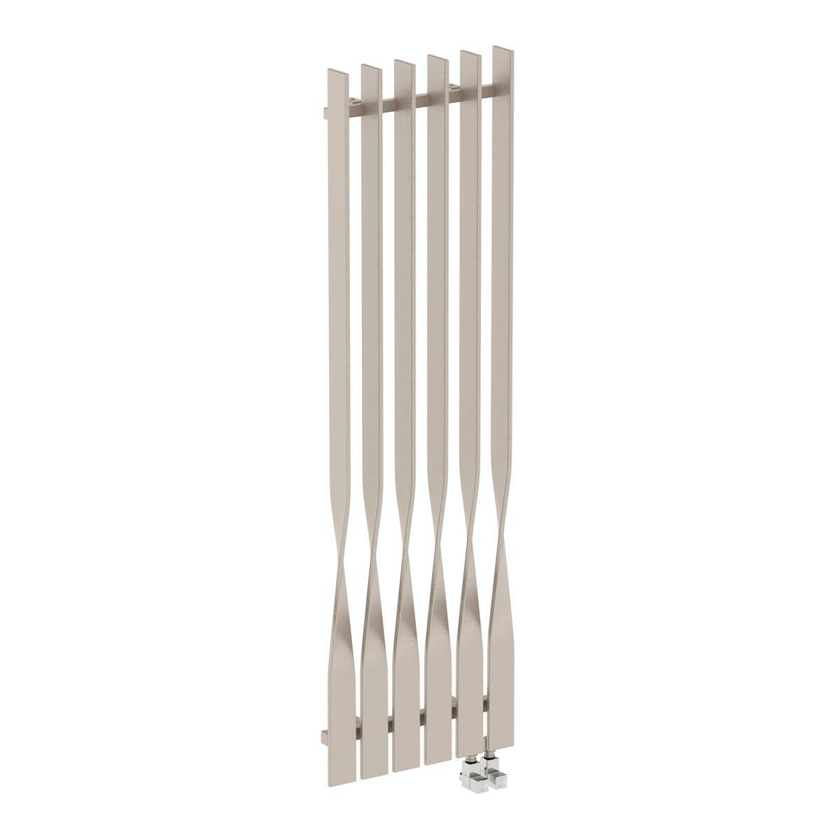 Cyklon oyster grey vertical radiator 1600 x 495