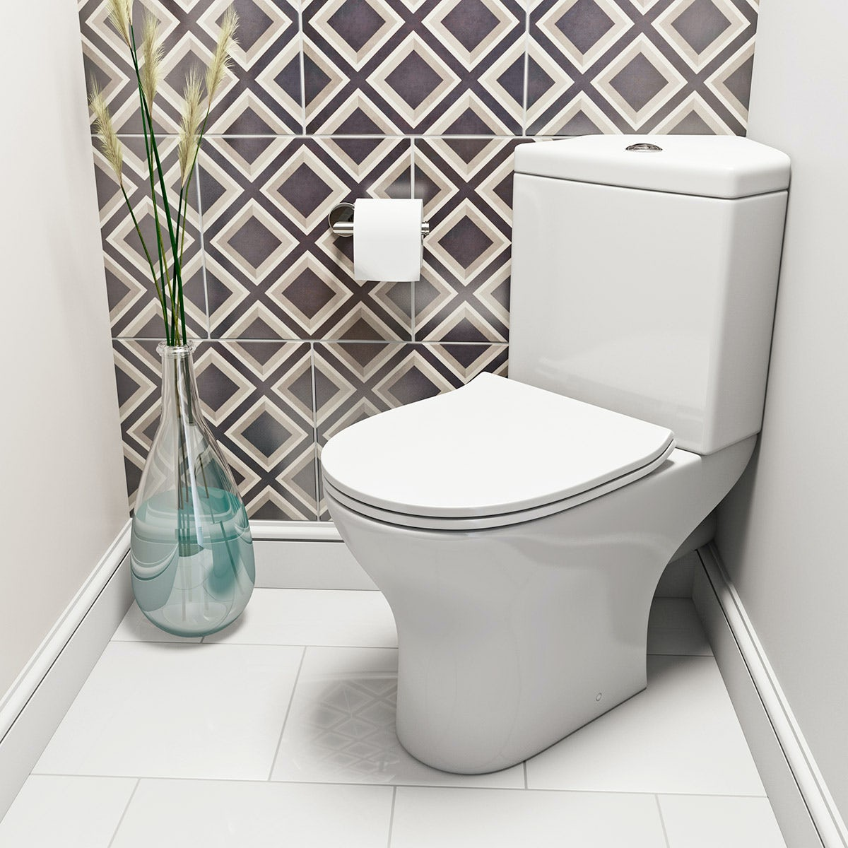 Orchard Derwent round compact corner close coupled toilet with