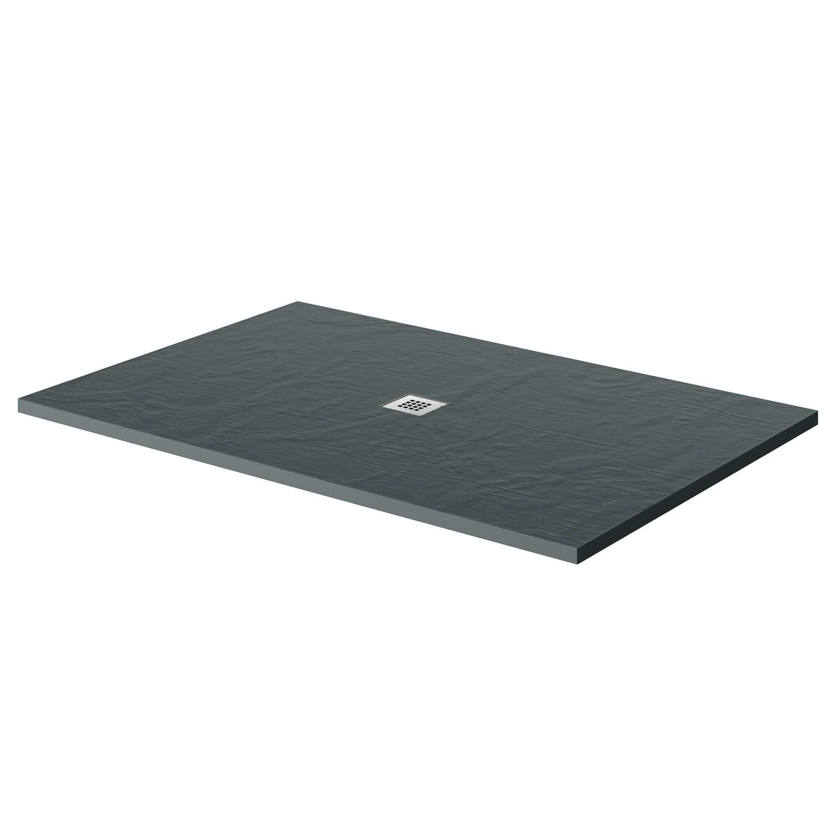 Mode grey slate effect rectangle stone shower tray 1200 x 800