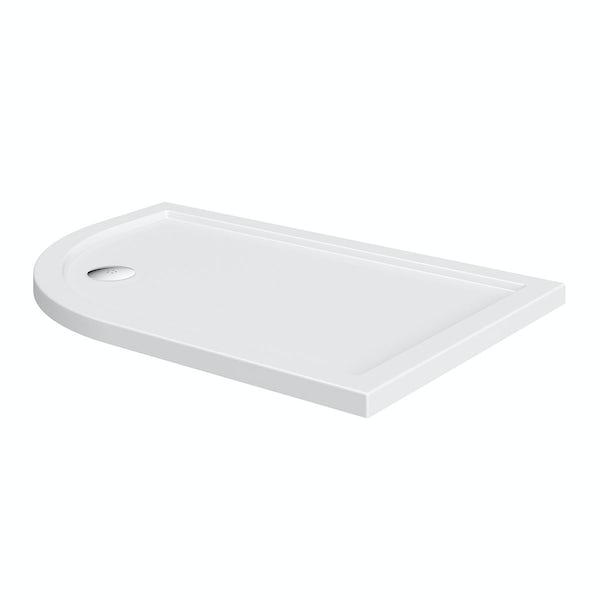 Offset Quadrant Left Handed Stone Shower Tray