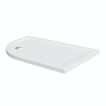 Offset quadrant left handed stone shower tray
