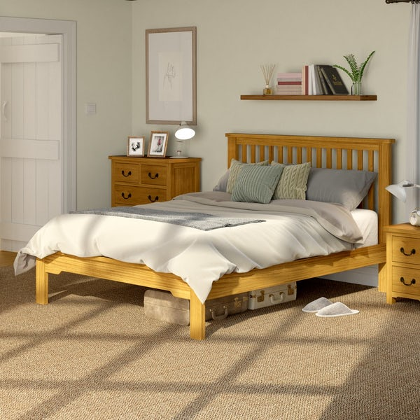 Rome Reclaimed Pine Double Bed