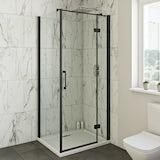Mode Cooper black hinged shower enclosure 1000 x 800