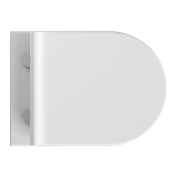 Mode Hardy wall hung toilet inc slimline soft close seat and wall mounting frame