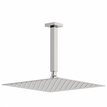 Arcus 300mm Shower Head & Square Ceiling Arm