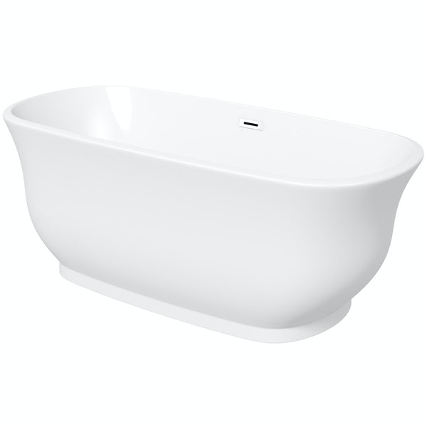 The Bath Co. Camberley black suite with Elegant Elsie bath