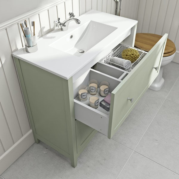 The Bath Co. Camberley sage vanity unit basin 800mm