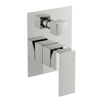 Square manual shower valve with diverter