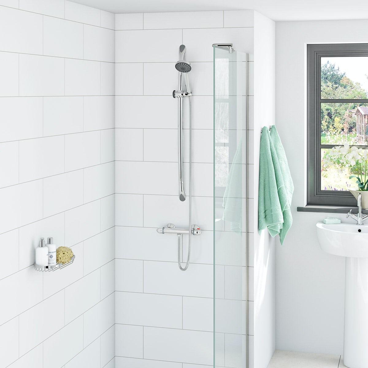 Eden economy shower bar valve with slider rail kit