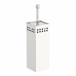 Options Square Freestanding Stainless Steel Toilet Brush Holder