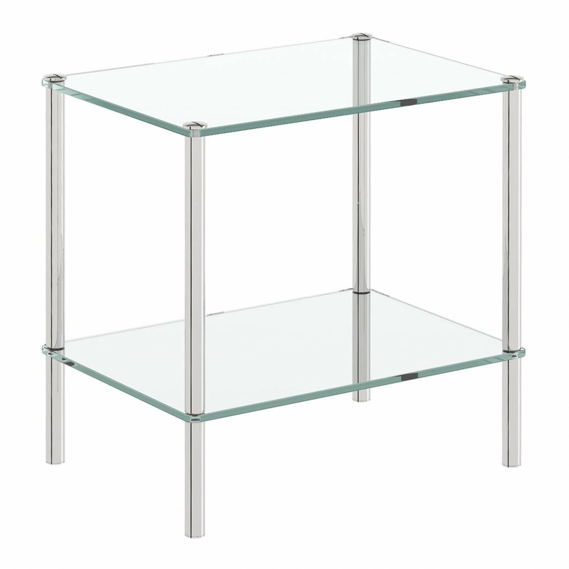 Orchard Options freestanding square 2 glass shelf unit