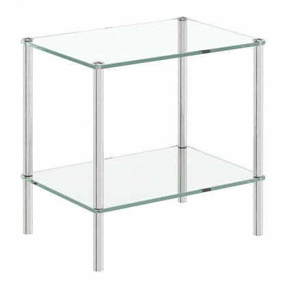Options Freestanding Square 2 Glass Shelf Unit