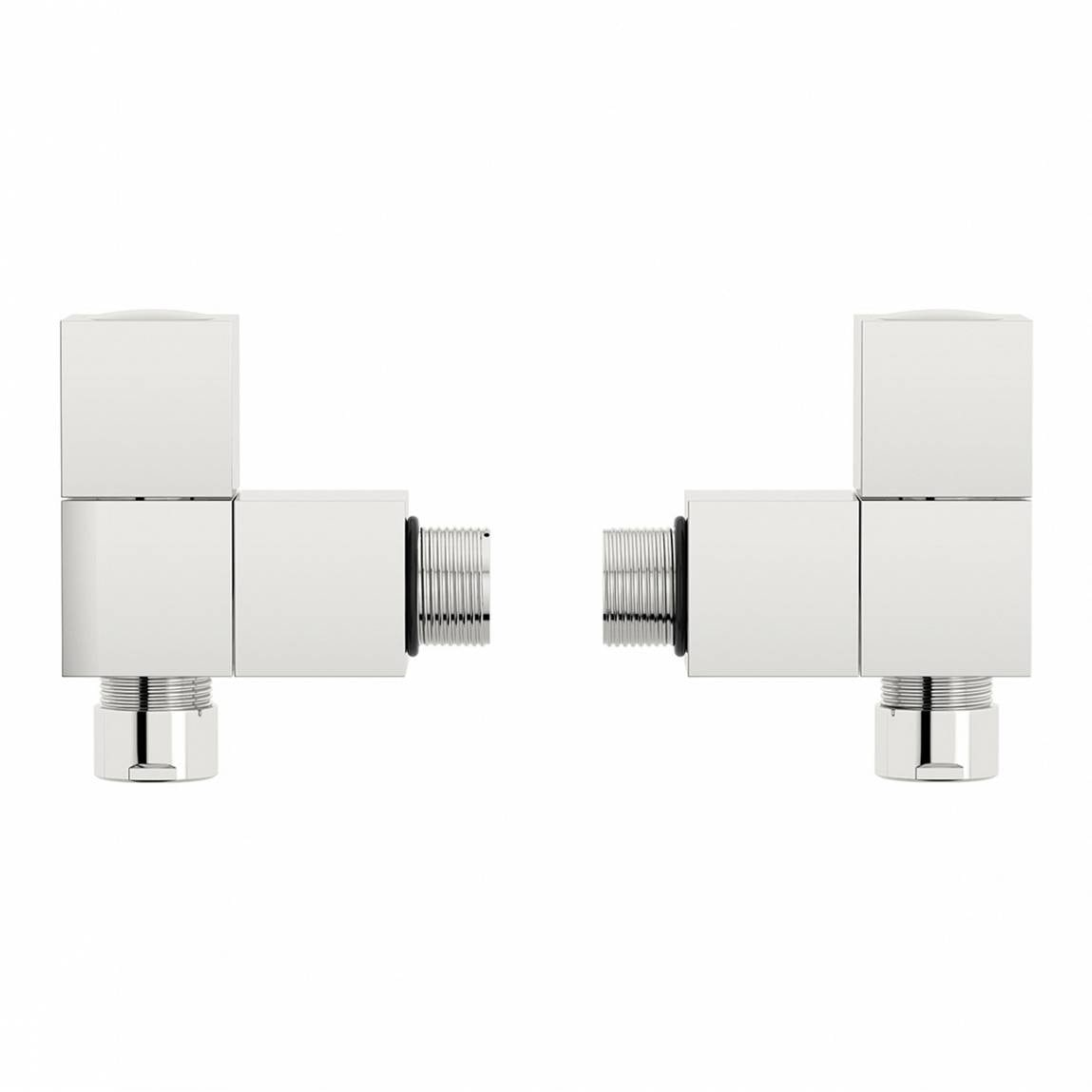 Square Angled Radiator Valves