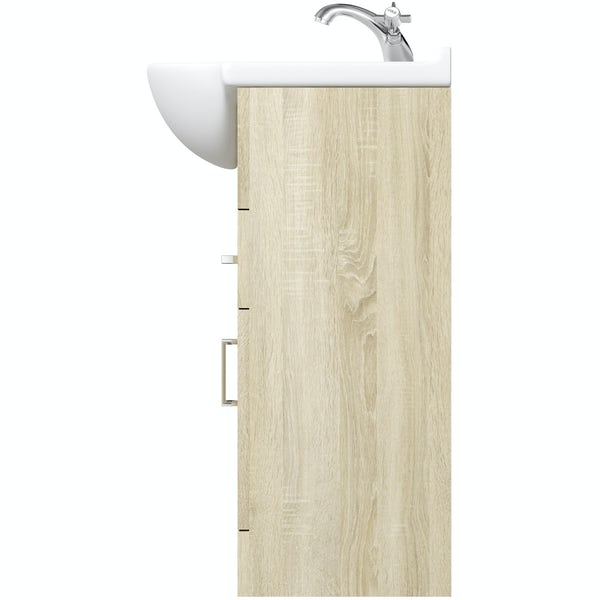 Eden oak vanity unit and basin 850mm