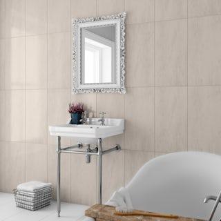 British Ceramic Tile Earth gold gloss wall tile 298mm x 598mm