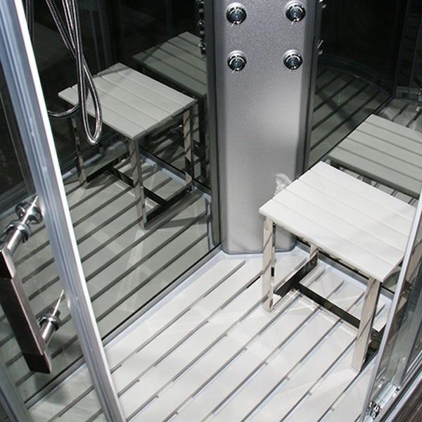 Insignia left handed offset quadrant hyrdo-massage shower cabin 1200 x 800