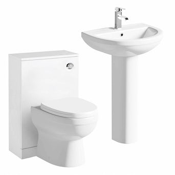 Energy Back to Wall Toilet and Basin Suite