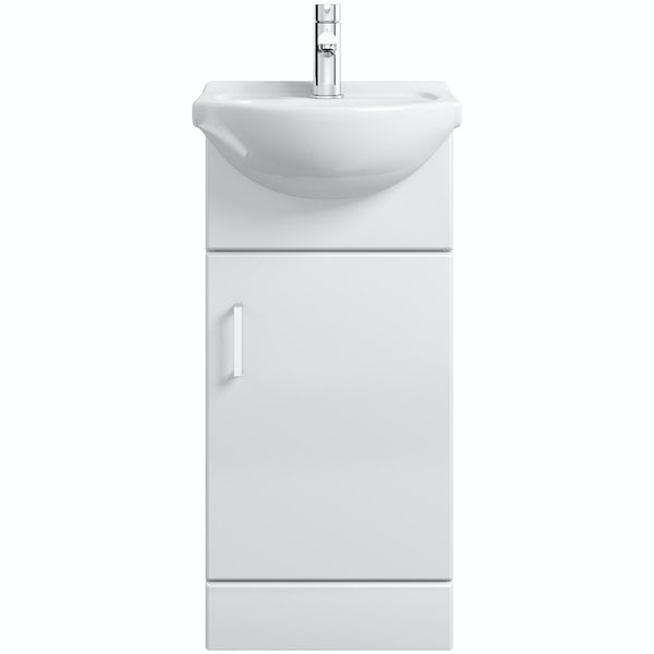 Eden white vanity unit and basin 410mm