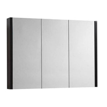 Odessa wenge 3 door bathroom mirror cabinet