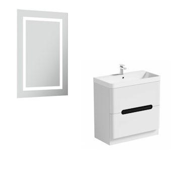 Mode Ellis select essen vanity unit 800mm and mirror offer