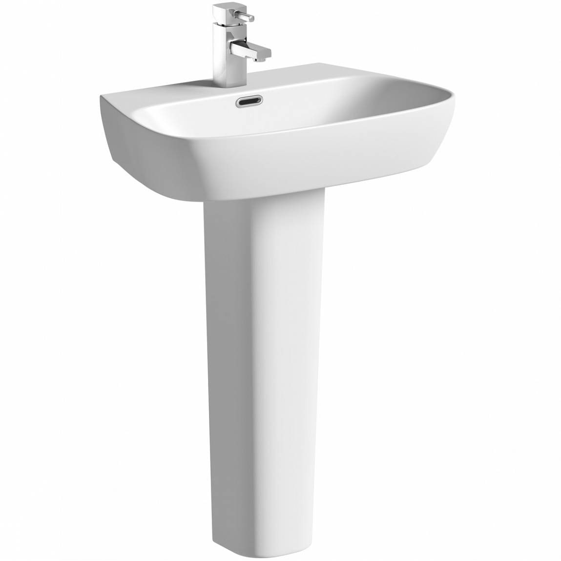 Mode Foster 1 tap hole full pedestal basin 600mm with waste