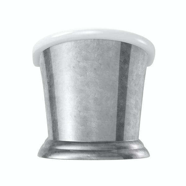 Belle de Louvain Charlet silver effect freestanding bath 1700 x 740