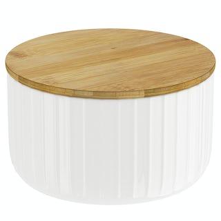 Contour white storage jar large