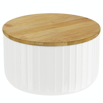 Contour white storage jar large