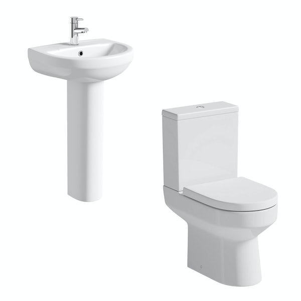 Oakley Close Coupled Toilet and Full Pedestal Suite