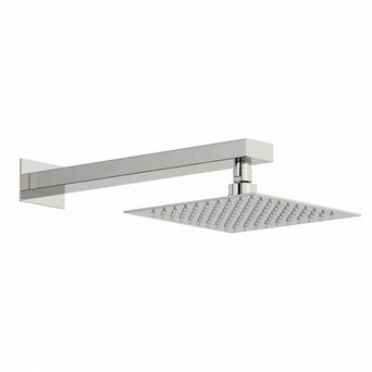 Arcus 200mm Shower Head & Rectangular Wall Arm