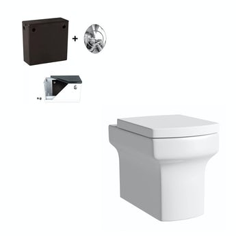 Vermont back to wall toilet with soft close seat and concealed cistern