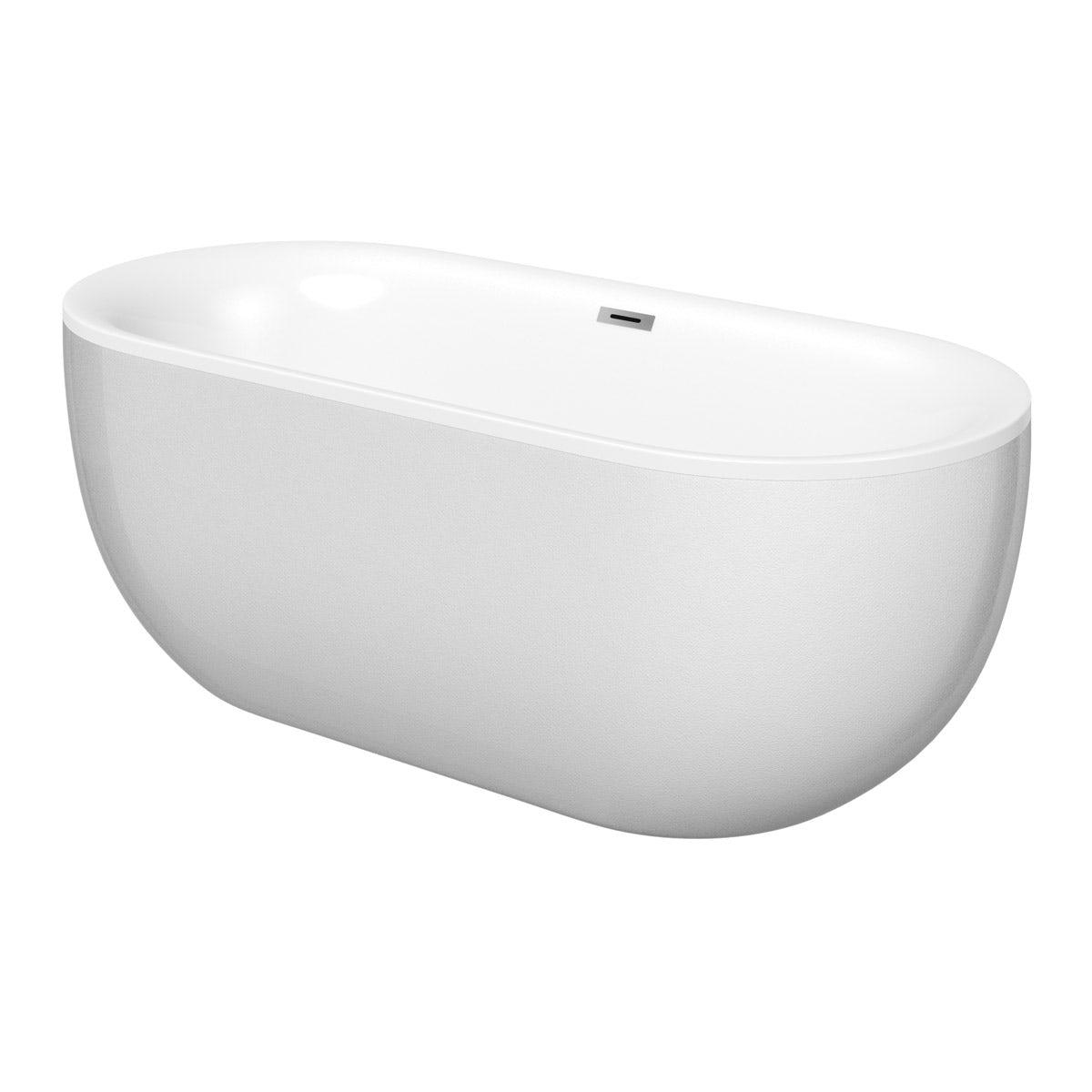 Mode Ellis pearl coloured freestanding bath offer pack