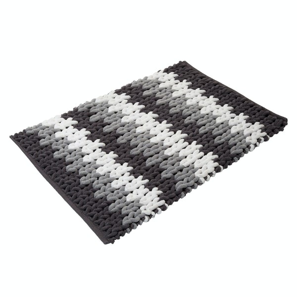 Croydex grey & white patterned bath mat
