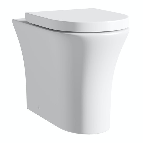 Hardy back to wall toilet with soft close seat and concealed cistern