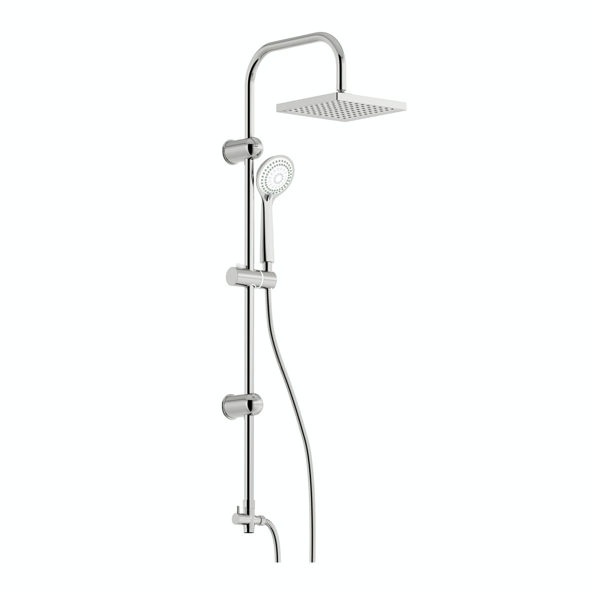 Clarity square head shower riser kit