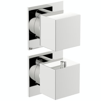 Mode Cooper square twin thermostatic shower valve