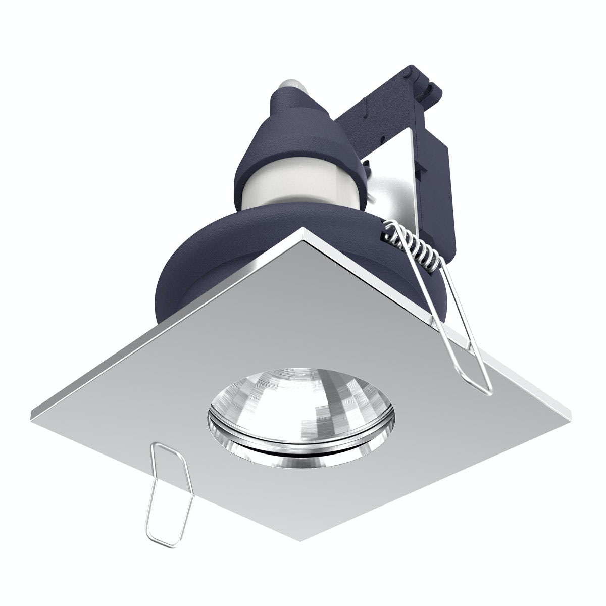 Forum IP65 square downlight in chrome