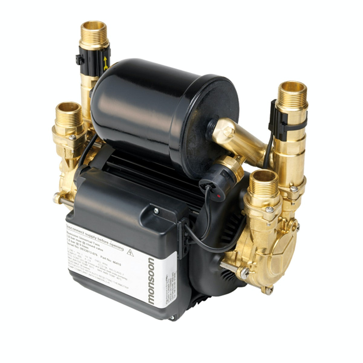 Stuart Turner Monsoon universal 2.0 bar twin shower pump