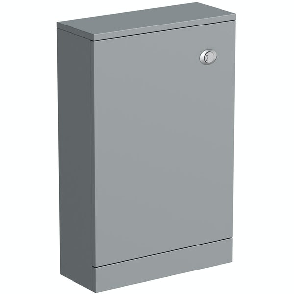 Clarity satin grey back to wall toilet unit