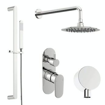 Orchard Spa round manual shower valve with diverter and slider rail wall set