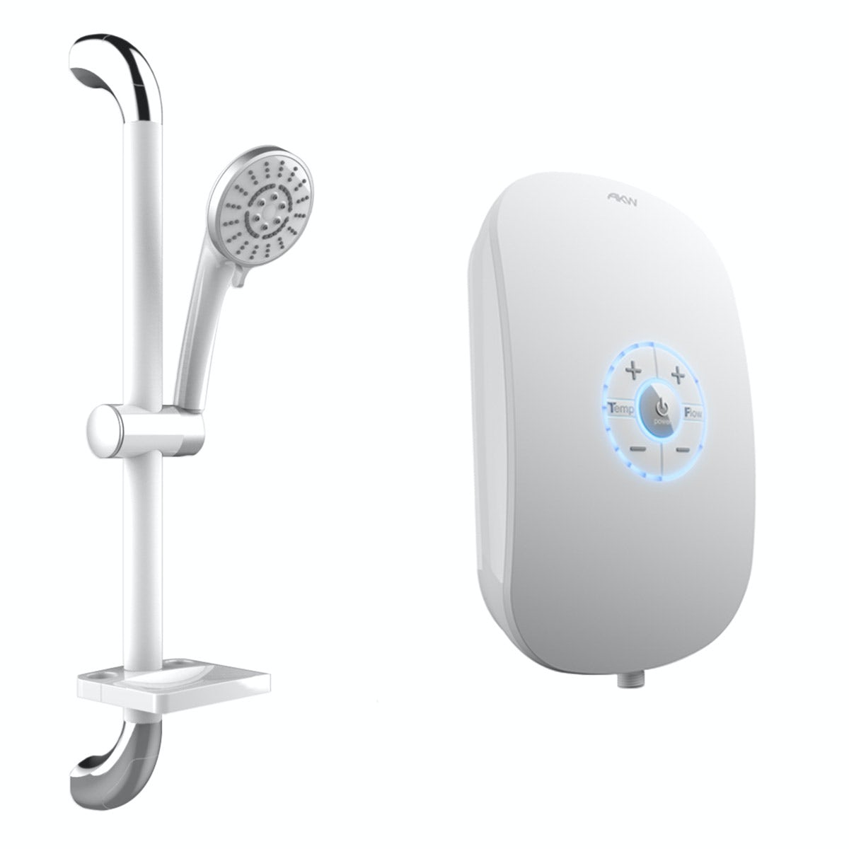 AKW iCare 8.5kw electric shower silver