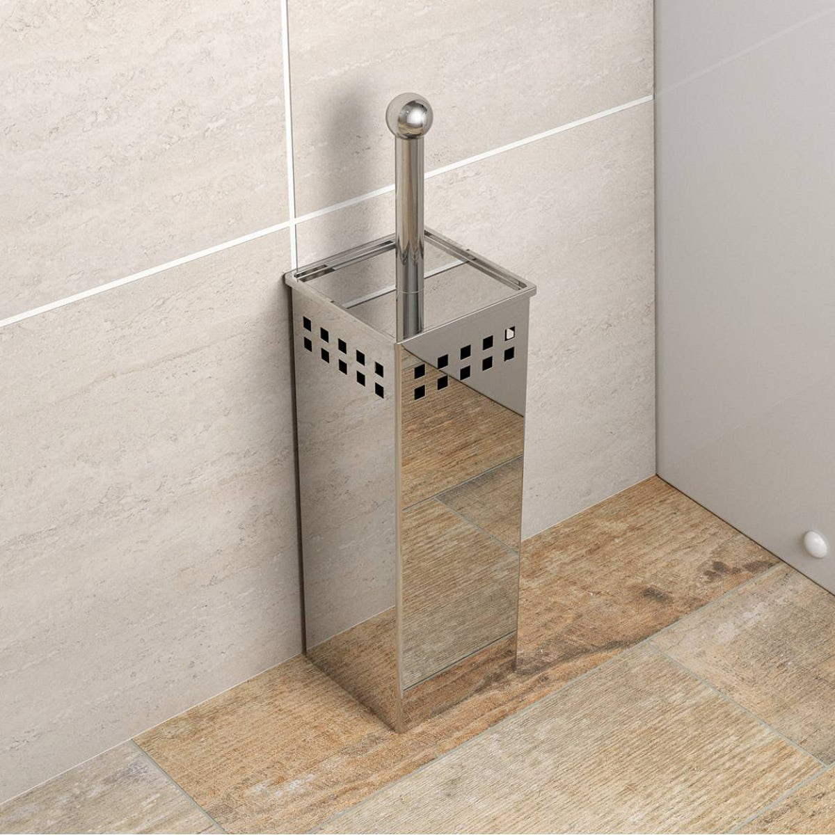 Orchard Options Freestanding Stainless Steel Square Toilet