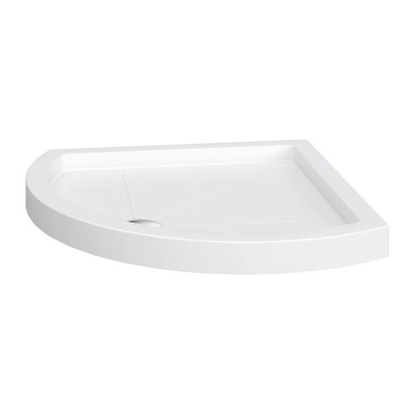 Bow Quadrant Stone Shower Tray 900
